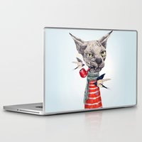 sphynx Laptop & iPad Skins featuring Sphynx cat by dogooder