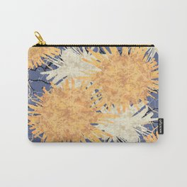 Abstract Orange Flowers Pattern Carry-All Pouch