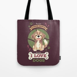 I Love Dogs! Tote Bag