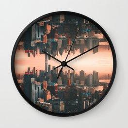 New York City Skyline Surreal Wall Clock