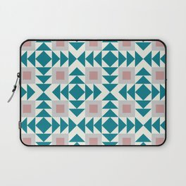Abstract Contemporary Geometric Pink and Green Retro Pattern 04 Laptop Sleeve