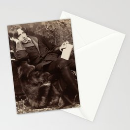 Oscar Wilde Lounging Portrait Stationery Cards