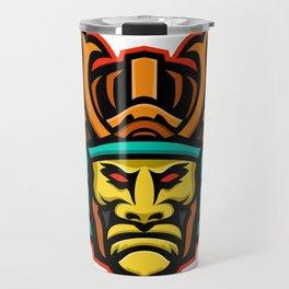 Samurai Warrior Head Mascot Travel Mug