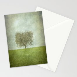 The Lone Olive Tree Stationery Cards