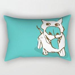 Citydog - turquise Rectangular Pillow