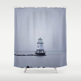 Burlington Breakwater North Lighthouse Shower Curtain
