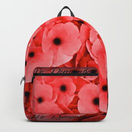 Veterans | Memorial Day | Remembrance Day | We Remember | Red Poppies | Nadia Bonello Backpack