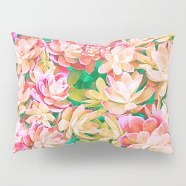 Cactus Fall - Pink and Green Pillow Sham