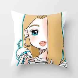 Slush Slime Throw Pillow