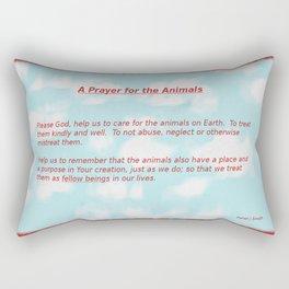 A Prayer for the Animals Rectangular Pillow