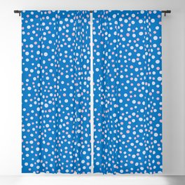blue and pink simple polka dots pattern Blackout Curtain