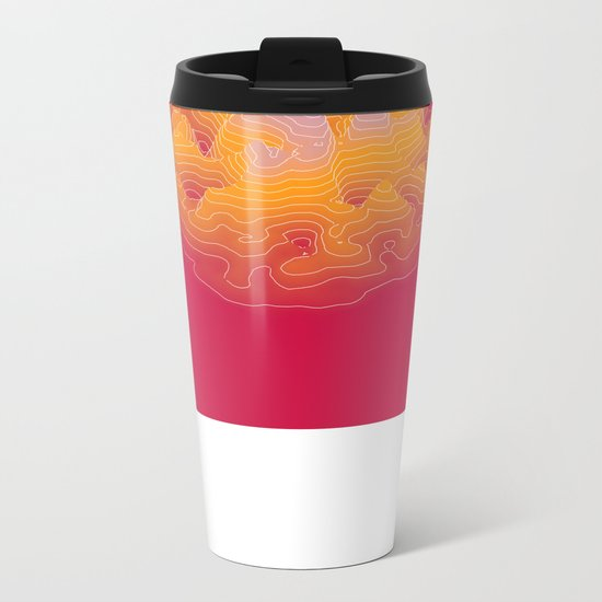 geography for the waiting unknown b Metal Travel Mug