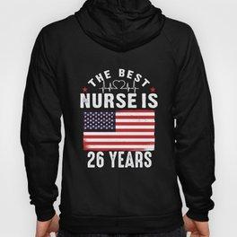 26 Birthday Present Nurse 26 Years Nursing Gift Hoody