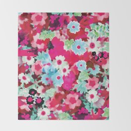 Pretty In Pink Watercolor Throw Blanket