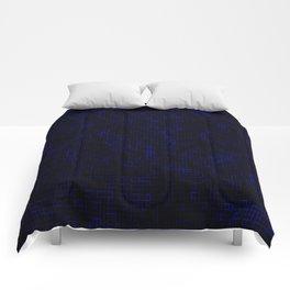 Dark Blue Pixels Comforters