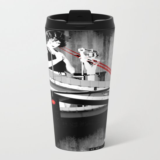 Stop the Freeway Overpass Scales Madness! Metal Travel Mug
