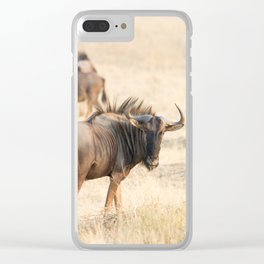Group of wildebeest Clear iPhone Case