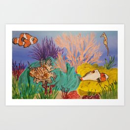 Circus Under the Sea Art Print