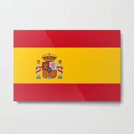 Spain Flag Spanish Patriotic Metal Print