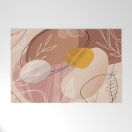 Abstract Peach Welcome Mat
