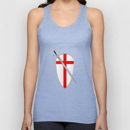 Crusaders Shield and Sword Unisex Tank Top
