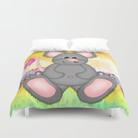 mouse Duvet Covers featuring Mouse by Digital-Art