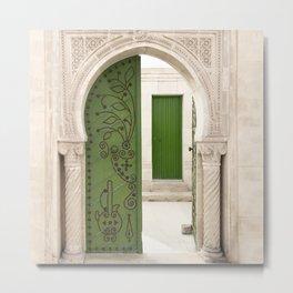 Green doors, Arabic style Metal Print