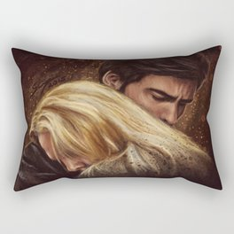 Don't Get Too Close, It's Dark Inside Rectangular Pillow