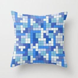 Tetris Camouflage Marine Throw Pillow