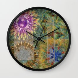 Rethank Weave Flower  ID:16165-002645-43931 Wall Clock