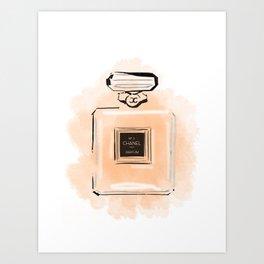 Orange Perfume Art Print