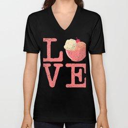 I Love Ice Cream Unisex V-Neck