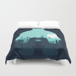 Welcome To Monsters, Inc. Duvet Cover