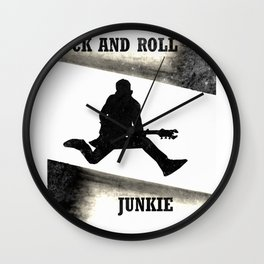 Rock and Roll Junkie Wall Clock