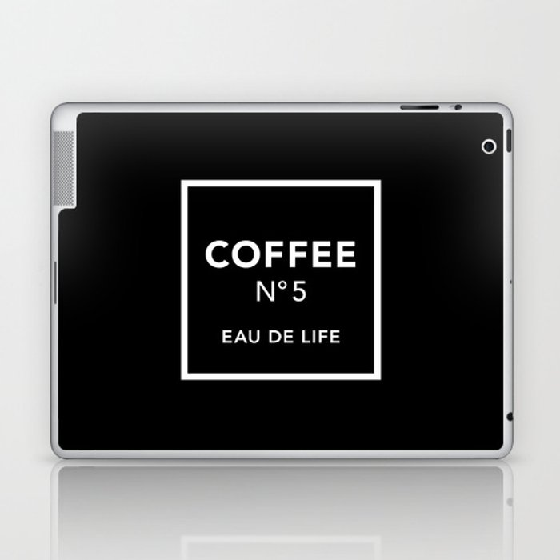 Black Coffee No5 Laptop & iPad Skin
