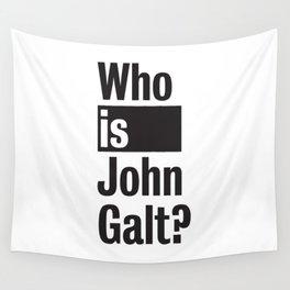 Who Is John Galt? Atlas Shrugged Ayn Rand Wall Tapestry