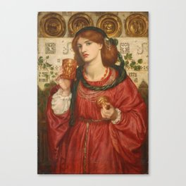 Dante Gabriel Rossetti - The Loving Cup Canvas Print