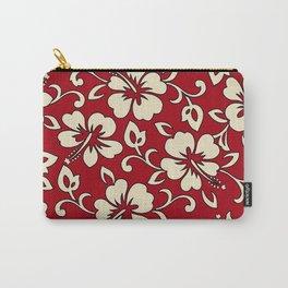 Malia Hawaiian Hibiscus Aloha Shirt Print Carry-All Pouch