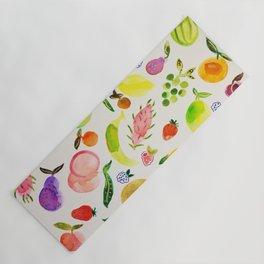fruit market watercolor Yoga Mat