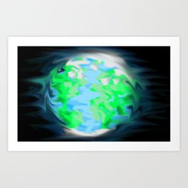 Earth Glow Art Print