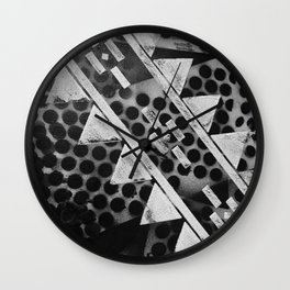 Rough Geometric Shapes Wall Clock