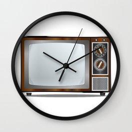 Old Television Set Wall Clock