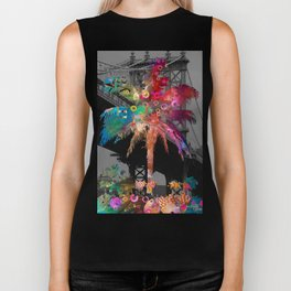 Palm Tree in New York Biker Tank