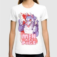 pigs T-shirts featuring men are pigs by Ginseng&Honey