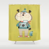 photographer Shower Curtains featuring photographer by kate hindley