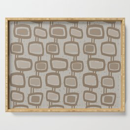 Dangling Rectangles in Brown Serving Tray