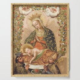 The Virgin Adoring the Christ Child with Two Saints Serving Tray