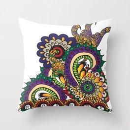 Hello 70s! Corally Throw Pillow