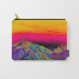 California's Sierra Mts-Digital Art, Green & Purple Carry-All Pouch