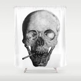 Smoking Skull Shower Curtain